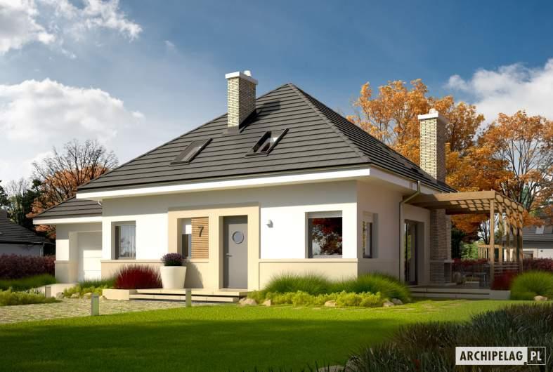 Projekt domu Niki G1 (wersja A) ENERGO - Projekty domów ARCHIPELAG - Niki G1 (wersja A) ENERGO - wizualizacja frontowa