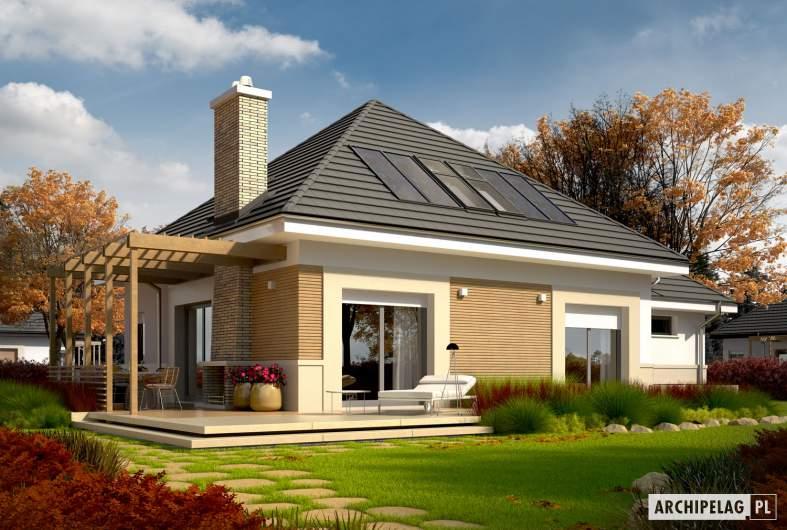 Projekt domu Niki G1 (wersja A) ENERGO - Projekty domów ARCHIPELAG - Niki G1 (wersja A) ENERGO - wizualizacja ogrodowa