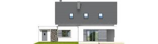 Projekt domu Patryk III G1 - elewacja tylna
