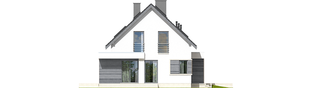 Projekt domu Patryk III G1 - elewacja lewa