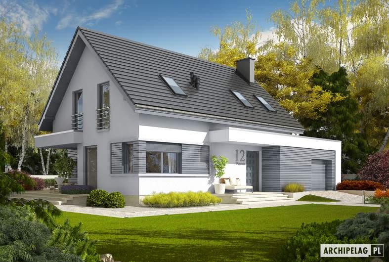 Projekt domu Patryk III G1 - Projekty domów ARCHIPELAG - Patryk III G1 - wizualizacja frontowa