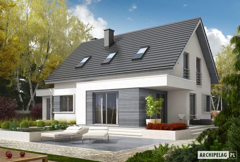 Projekt domu Patryk III G1 - Projekty domów ARCHIPELAG - Patryk III G1 - wizualizacja ogrodowa