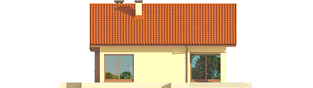 Projekt domu Tori III ECONOMIC (wersja B) - elewacja tylna