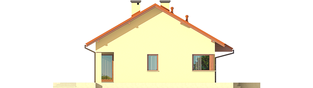 Projekt domu Tori III ECONOMIC (wersja B) - elewacja lewa
