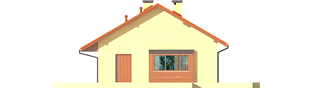 Projekt domu Tori III ECONOMIC (wersja B) - elewacja prawa
