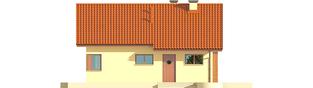Projekt domu Tori III ECONOMIC (wersja B) - elewacja frontowa