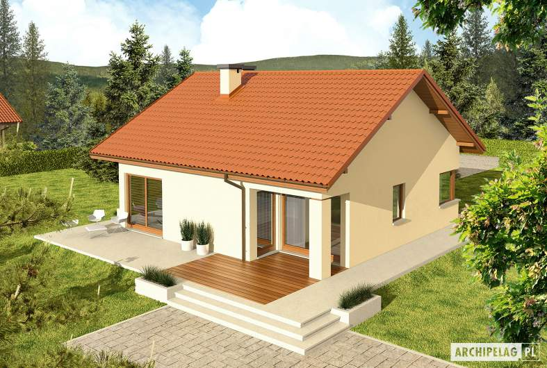 Projekt domu Tori III ECONOMIC (wersja B) - widok z góry