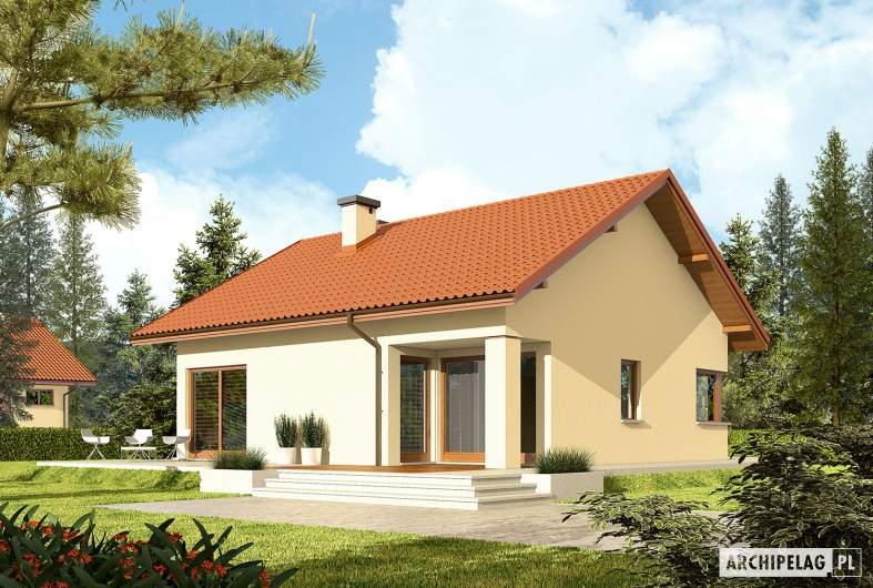 Projekt domu Tori III ECONOMIC (wersja B) - wizualizacja ogrodowa