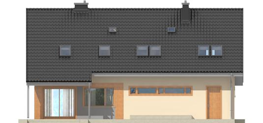 Amber G1 - Projekty domów ARCHIPELAG - Amber G1 - elewacja tylna
