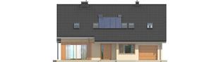 Projekt domu Amber G1 - elewacja frontowa