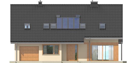 Amber G1 - Projekty domów ARCHIPELAG - Amber G1 - elewacja frontowa