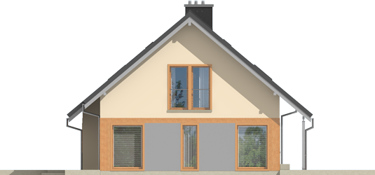Amber G1 - Projekty domów ARCHIPELAG - Amber G1 - elewacja lewa