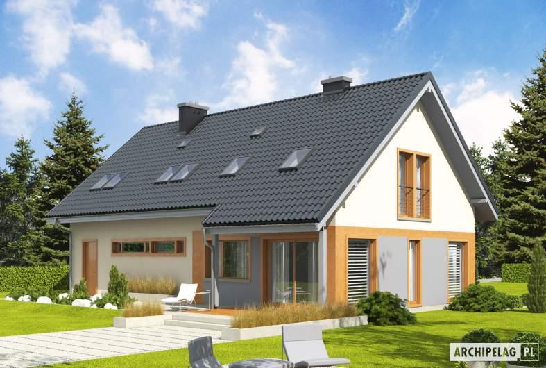 Projekt domu Amber G1 - Projekty domów ARCHIPELAG - Amber G1 - wizualizacja ogrodowa