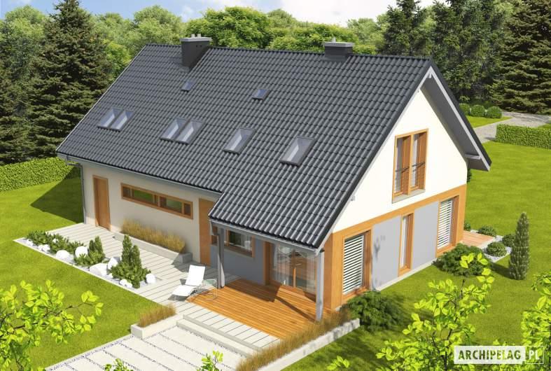 Projekt domu Amber G1 - Projekty domów ARCHIPELAG - Amber G1 - widok z góry