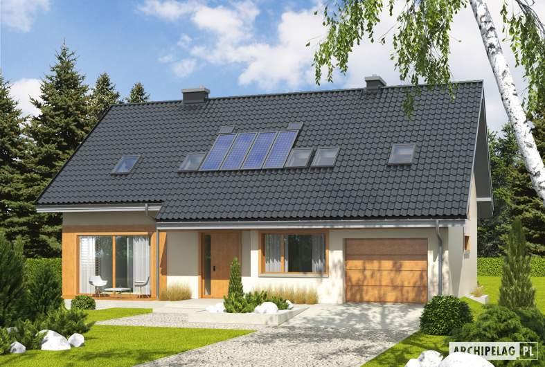 Projekt domu Amber G1 - Projekty domów ARCHIPELAG - Amber G1 - wizualizacja frontowa
