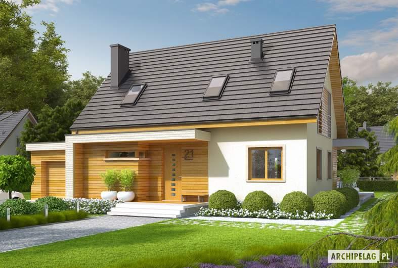 Projekt domu Nikodem G1 - wizualizacja frontowa