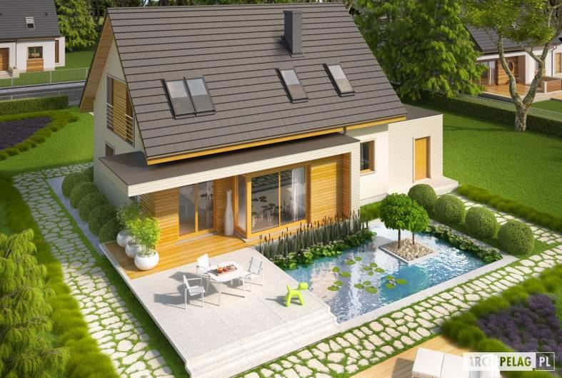 Projekt domu Nikodem G1 - widok z góry