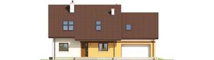 Projekt domu Marcin III G2 Mocca - elewacja frontowa