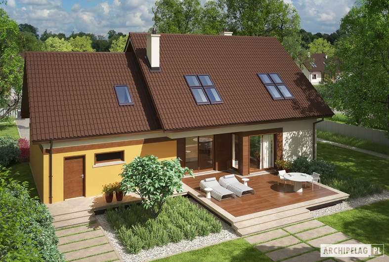 Projekt domu Marcin III G2 Mocca - Projekty domów ARCHIPELAG - Marcin III G2 Mocca - widok z góry