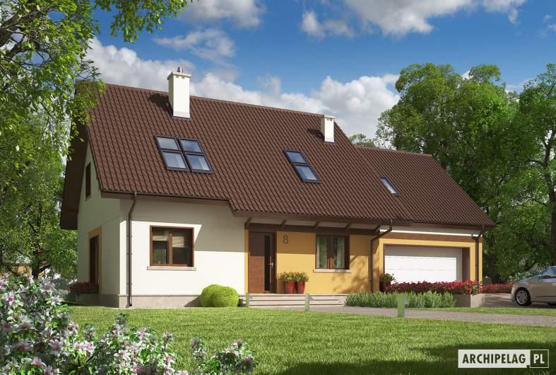 Projekt domu Marcin III G2 Mocca - Projekty domów ARCHIPELAG - Marcin III G2 Mocca - wizualizacja frontowa