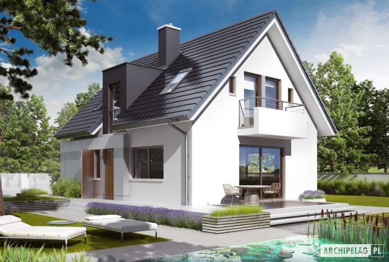 Projekt domu Julek G1 - wizualizacja ogrodowa