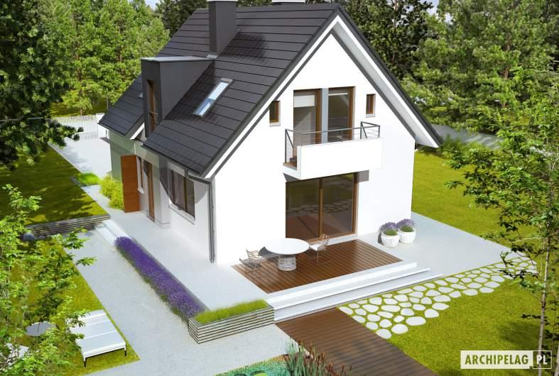 Projekt domu Julek G1 - widok z góry