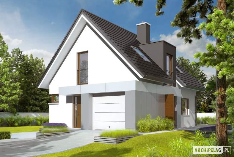 Projekt domu Julek G1 - wizualizacja frontowa