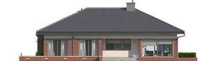 Projekt domu Dominik G2 (wersja B) - elewacja tylna