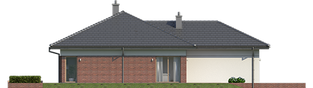 Projekt domu Dominik G2 (wersja B) - elewacja lewa