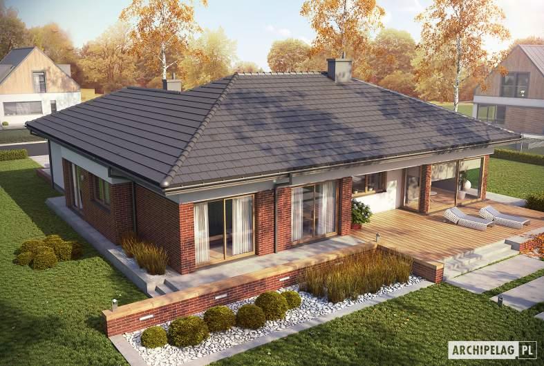 Projekt domu Dominik G2 (wersja B) - widok z góry