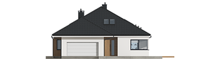 Projekt domu Tanita II G2 - elewacja frontowa