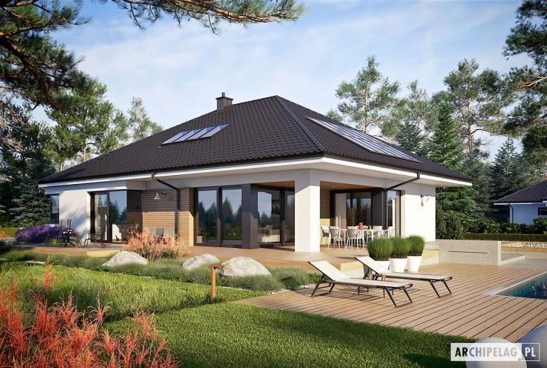 Projekt domu Tanita II G2 - wizualizacja ogrodowa