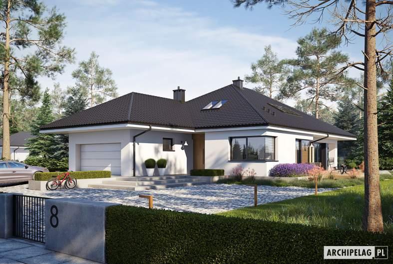 Projekt domu Tanita II G2 - wizualizacja frontowa