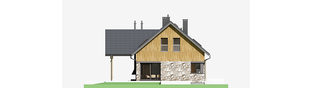Projekt domu Nikolas G2 - elewacja lewa