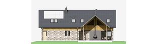 Projekt domu Nikolas G2 - elewacja tylna