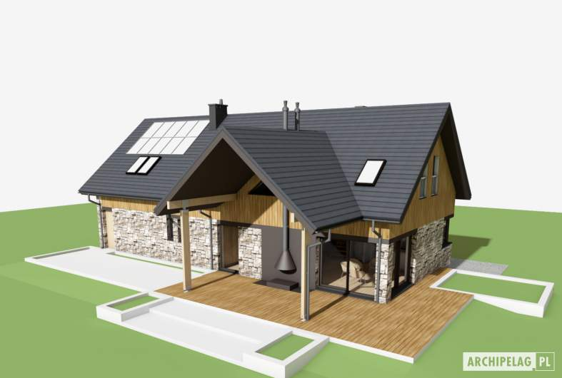 Projekt domu Nikolas G2 - widok z góry