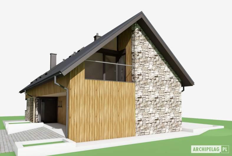 Projekt domu Nikolas G2 - wizualizacja frontowa prawa