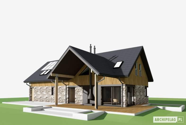 Projekt domu Nikolas G2 - wizualizacja ogrodowa