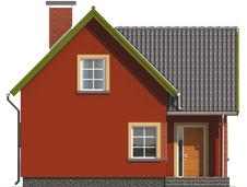 Malvine - Projekt domu Malwinka - elewacja frontowa