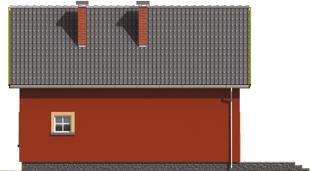 Malvine - Projekt domu Malwinka - elewacja lewa