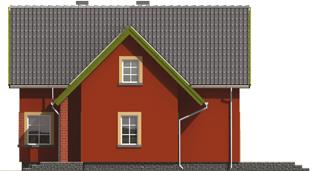 Malvine - Projekt domu Malwinka - elewacja prawa