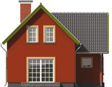 Malvine - Projekt domu Malwinka - elewacja tylna