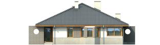 Projekt domu Florenc - elewacja prawa