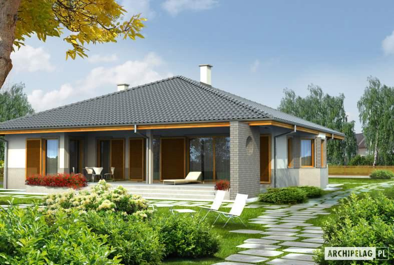 Projekt domu Florenc - wizualizacja ogrodowa