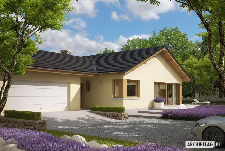 Projekt domu India II G2 (wersja B) - Projekty domów ARCHIPELAG - India II G2 (wersja B) - wizualizacja frontowa