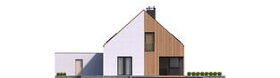 Projekt domu Daniel V G2 ENERGO PLUS - elewacja tylna