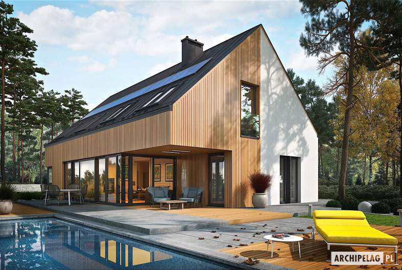 Projekt domu Daniel V G2 ENERGO PLUS - wizualizacja ogrodowa