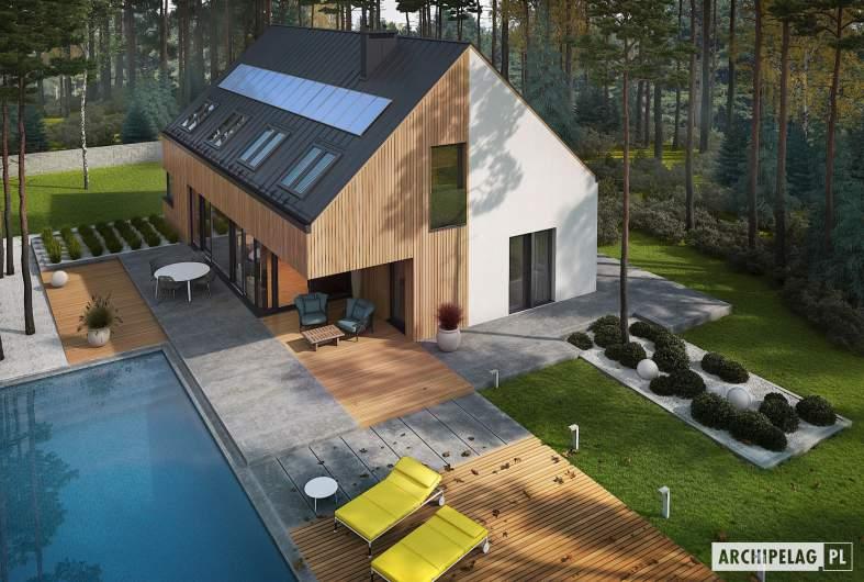Projekt domu Daniel V G2 ENERGO PLUS - widok z góry