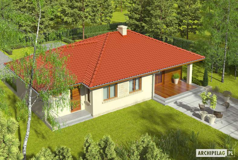 Projekt domu Margo G1 - widok z góry