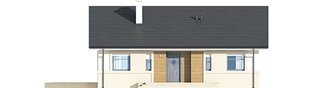 Projekt domu Kornel ENERGO - elewacja frontowa